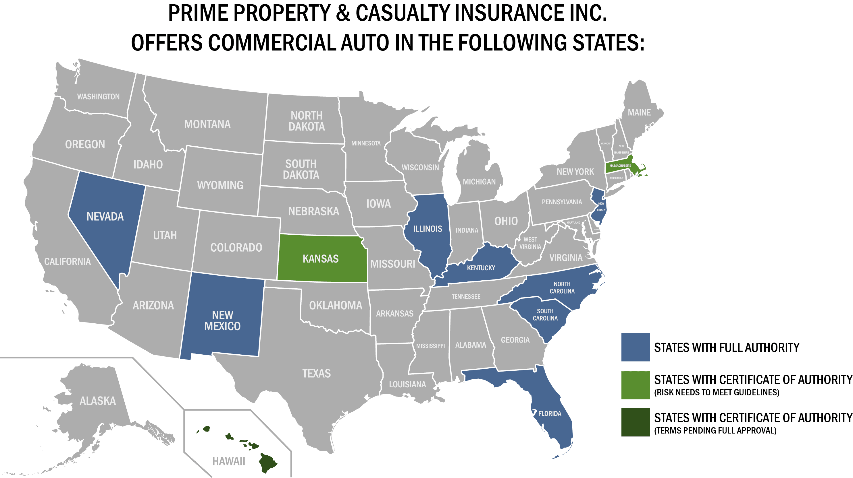 PPCI Commercial Auto States